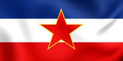 flagge von jugoslawien