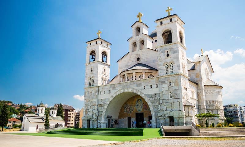 Blick auf die Kathedrale der Auferstehung Christi